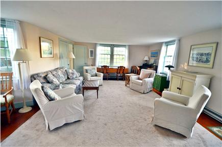 Edgartown Village Martha's Vineyard vacation rental - Living room in opposite direction with dining area to sunporch