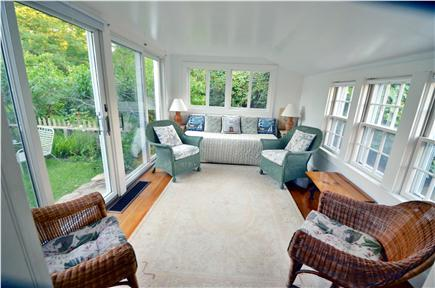 Edgartown Village Martha's Vineyard vacation rental - Sunporch with sliders to the flower garden