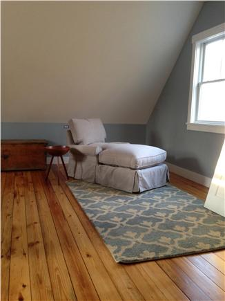 West Tisbury Martha's Vineyard vacation rental - Master bedroom main house - chaise for napping/reading