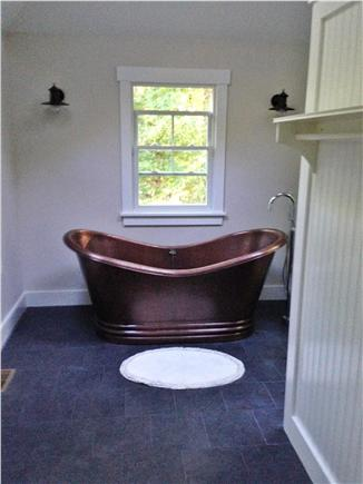 West Tisbury Lambert's Cove Martha's Vineyard vacation rental - Copper tub carriage house (there's a shower, too)