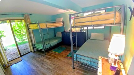 West Tisbury, Longpoint Beach Area Martha's Vineyard vacation rental - Great double bunkbed room has sliders to yard
