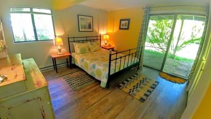 West Tisbury, Longpoint Beach Area Martha's Vineyard vacation rental - Master queen bedroom w/full priv. bath opens to back yard