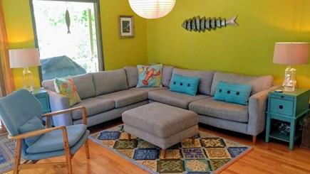 West Tisbury, Longpoint Beach Area Martha's Vineyard vacation rental - Attractive comfortable furnishings in living areas-AC split UP