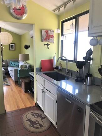 West Tisbury, Longpoint Beach Area Martha's Vineyard vacation rental - Modern kitchen w/quartz countertops & stainless steel appliances