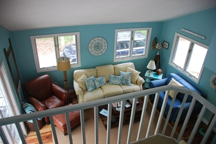 Edgartown Martha's Vineyard vacation rental - Living area from staircase landing