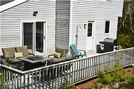 Edgartown Martha's Vineyard vacation rental - Outdoor living, propane fire pit, outdoor shower and grill