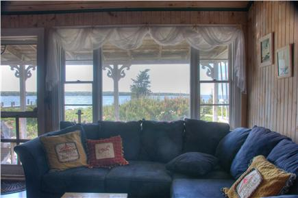 Oak Bluffs Martha's Vineyard vacation rental - Comfortable living room with beautiful water views
