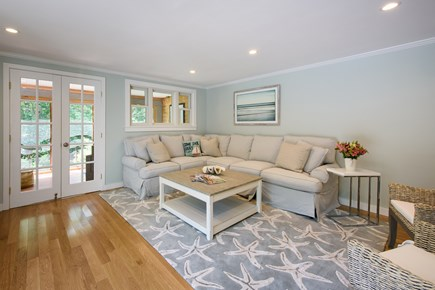 Katama - Edgartown Martha's Vineyard vacation rental - Living Room that leads out to deck