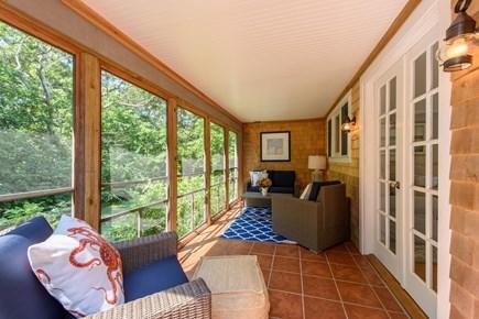 Katama - Edgartown Martha's Vineyard vacation rental - Enclosed Deck