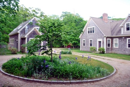 West Tisbury Martha's Vineyard vacation rental - Front of the house; parking for 5 cars, and caretakers barn