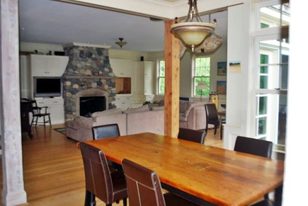 West Tisbury Martha's Vineyard vacation rental - Open Living room, dining room, kitchen