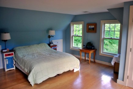 West Tisbury Martha's Vineyard vacation rental - Master bedroom, queen bed, bathroom with stand alone shower, tub