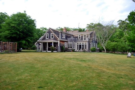 West Tisbury Martha's Vineyard vacation rental - The house and back yard.