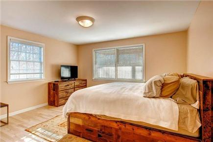 Chilmark Martha's Vineyard vacation rental - Master Bedroom w/ King Bed and Flat Screen TV