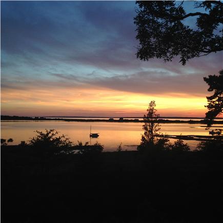Vineyard Haven Martha's Vineyard vacation rental - Sunset view over Lake Tashmoo from the Lodge