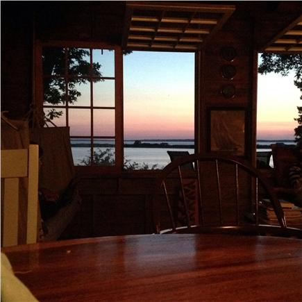 Vineyard Haven Martha's Vineyard vacation rental - Sunset from the dining room table