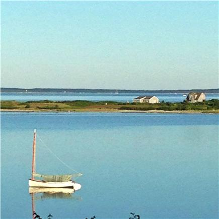 Vineyard Haven Martha's Vineyard vacation rental - Still morning looking across Tashmoo to the Sound and the Cape