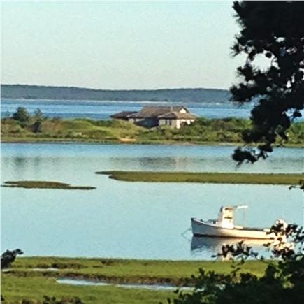 Vineyard Haven Martha's Vineyard vacation rental - Looking to the right of the catboat view