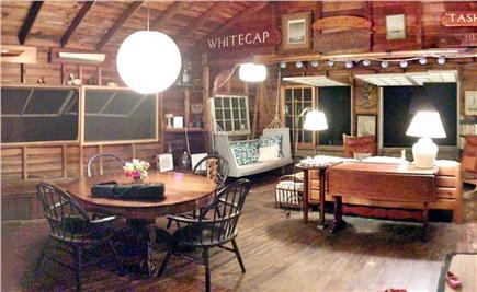Vineyard Haven Martha's Vineyard vacation rental - At night looking toward dining area and lake