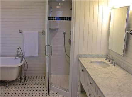 Oak Bluffs, East Chop Martha's Vineyard vacation rental - Ensuite Master Bath with claw foot tub, shower and double sinks
