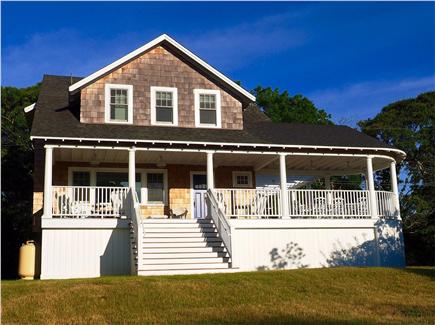 Oak Bluffs, East Chop Martha's Vineyard vacation rental - Enjoy ocean breezes on the large covered deck