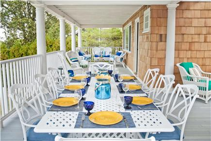 Oak Bluffs, East Chop Martha's Vineyard vacation rental - Dine alfresco, covered dining rotunda seats 10 + Weber grill