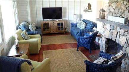Oak Bluffs, East Chop Martha's Vineyard vacation rental - Large living room seats a crowd