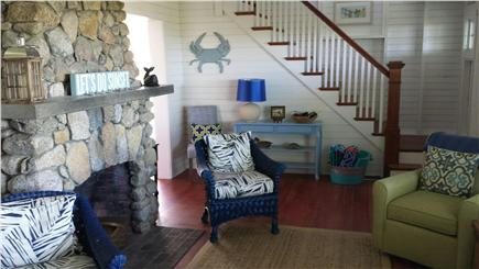 Oak Bluffs, East Chop Martha's Vineyard vacation rental - Beach stone fireplace - coastal decor