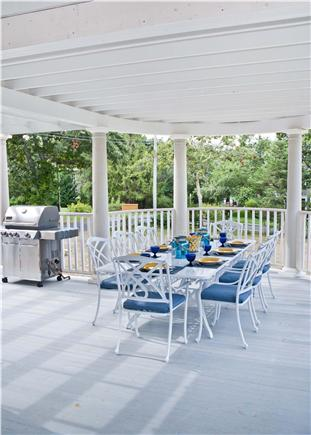 Oak Bluffs, East Chop Martha's Vineyard vacation rental - Dine alfresco, covered dining rotunda seats 10 + Weber grill