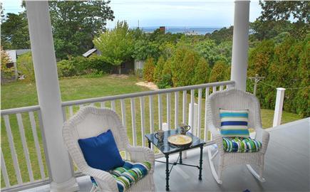 Oak Bluffs, East Chop Martha's Vineyard vacation rental - Front Porch with views of Nantucket Sound