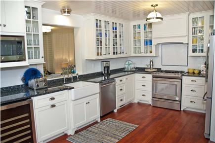 Oak Bluffs, East Chop Martha's Vineyard vacation rental - Spacious gourmet kitchen, gas range & wine fridge. Water view!