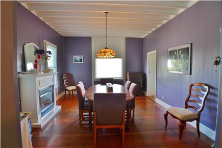 Oak Bluffs Martha's Vineyard vacation rental - Dining room of the kitchen with fireplace