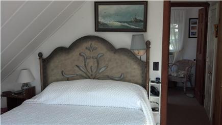 Oak Bluffs Martha's Vineyard vacation rental - Master bedroom with queen bed, closet, TV, window AC & 2 bureaus