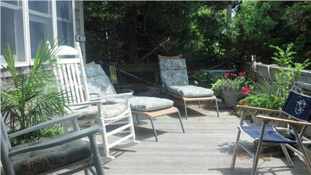 Oak Bluffs Martha's Vineyard vacation rental - 10 ft x 30 ft deck facing the pond