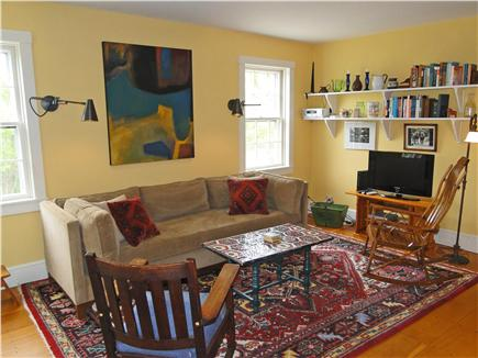 Chilmark Martha's Vineyard vacation rental - Living area with flatscreen TV