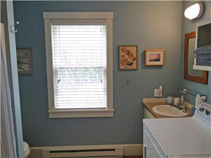 Chilmark Martha's Vineyard vacation rental - Bathroom with shower, tub, laundry