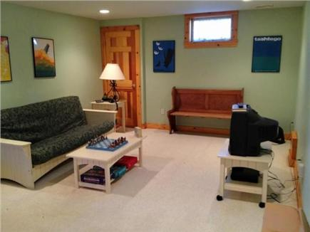West Tisbury Martha's Vineyard vacation rental - Full size futon in family room in the finished basement