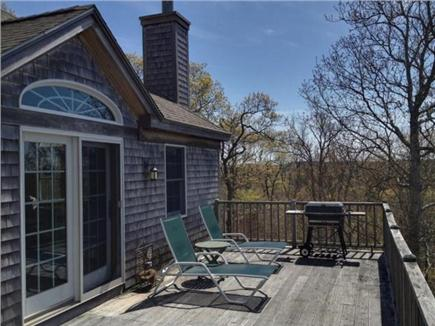 West Tisbury Martha's Vineyard vacation rental - Spacious deck with gas bbq grill - enjoy the views!