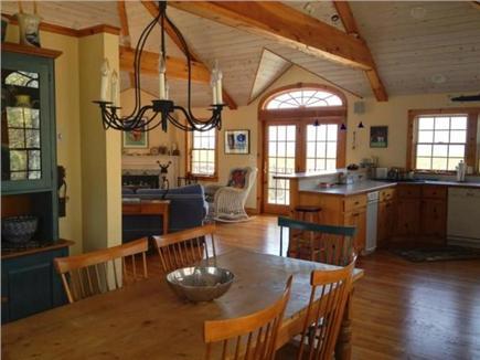 West Tisbury Martha's Vineyard vacation rental - Dining room looking towards deck