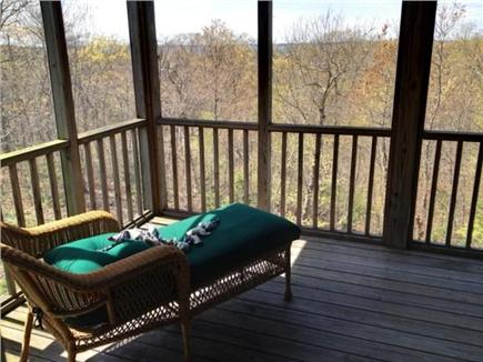 West Tisbury Martha's Vineyard vacation rental - Screened in porch off master bedroom
