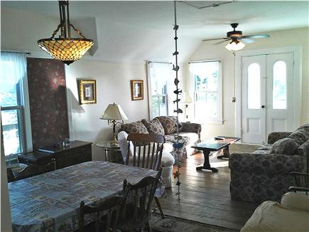 Oak Bluffs Martha's Vineyard vacation rental - Upstairs Dining Room and Living Room with Fishing Pole