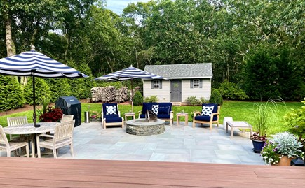 Oak Bluffs Martha's Vineyard vacation rental - Enjoy time on the blue stone patio with a fire and BBQ.