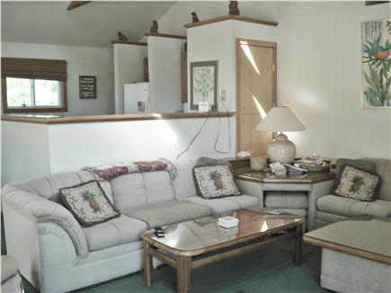 West Tisbury Martha's Vineyard vacation rental - The sofa and chairs are arranged for tv viewing or idle chit-chat