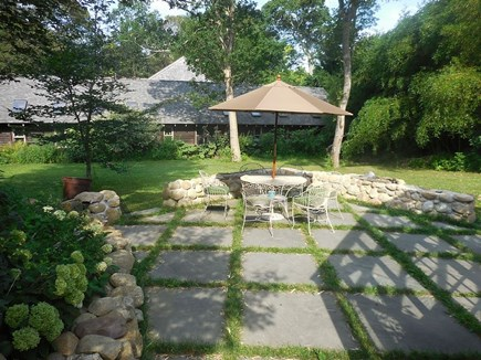Vineyard Haven Martha's Vineyard vacation rental - Bluestone patio spills out of the greenhouse.