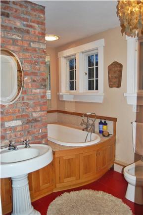 Vineyard Haven Martha's Vineyard vacation rental - 2nd floor bathroom with tub.