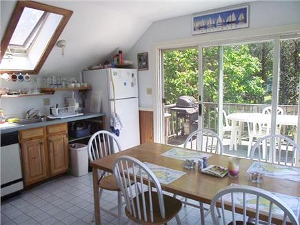 Chappaquiddick, Wasque Martha's Vineyard vacation rental - Kitchen/Dining Deck