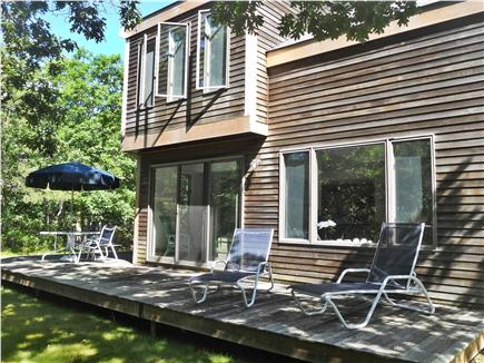West Tisbury Martha's Vineyard vacation rental - Secluded back yard is perfect for relaxing