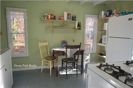 Oak Bluffs Martha's Vineyard vacation rental - Quaint Kitchen with New Stove & Access to Outdoor Shower