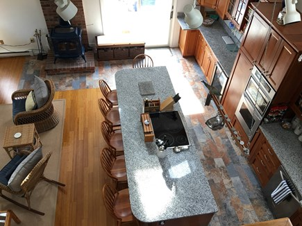 Edgartown Martha's Vineyard vacation rental - Kitchen view from loft