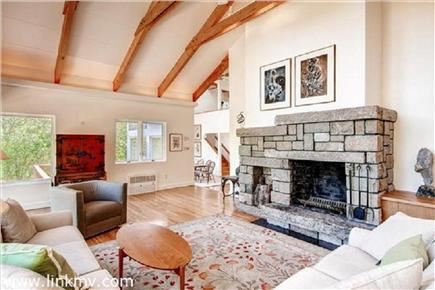 Chilmark Martha's Vineyard vacation rental - Fireplaced living room